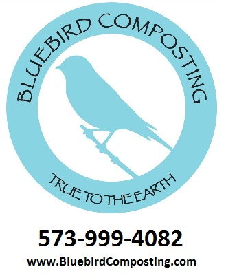 Bluebird Composting logo from vector high quality 50 percent with contact
